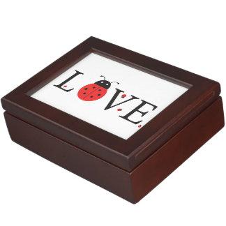 Ladybugs 'Love' Design With Inside Lid Bonus Bugs Memory Box
