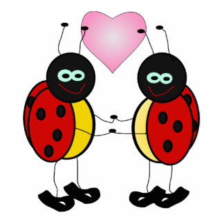 Ladybugs love acrylic cut out