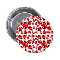 ladybugs lucky pinback button