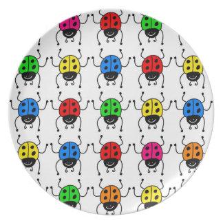 Ladybugs Melamine Plate