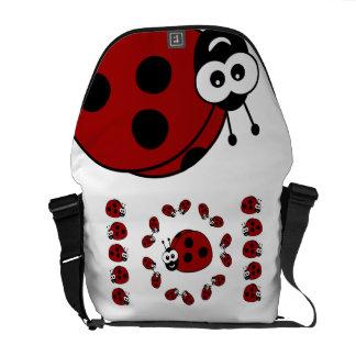 Ladybugs Messenger Bags