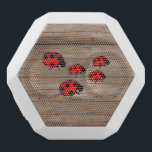 """Ladybugs on Wood Board White Bluetooth Speaker<br><div class=""""desc"""">A group of ladybugs crawling on a wood board</div>"""