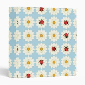 Ladybugs pattern 3 ring binder