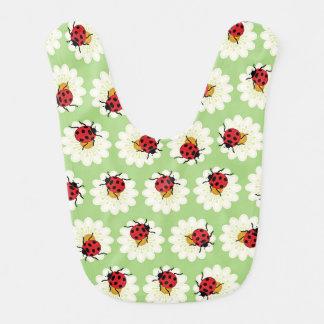 Ladybugs pattern baby bib