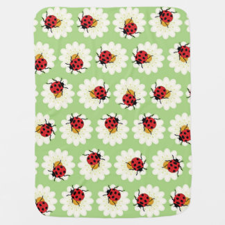 Ladybugs pattern baby blanket