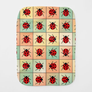 Ladybugs pattern baby burp cloth