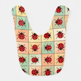 Ladybugs pattern bib