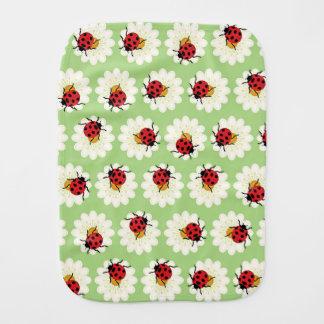 Ladybugs pattern burp cloth