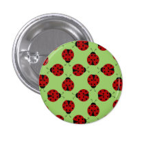 Ladybugs Pattern Button