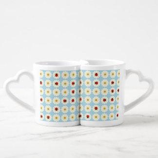 Ladybugs pattern coffee mug set