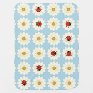 Ladybugs pattern swaddle blanket