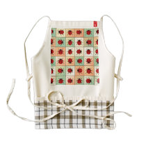Ladybugs pattern zazzle HEART apron