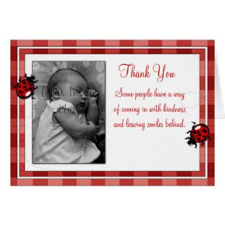 Ladybugs Photo Template Thank You Card