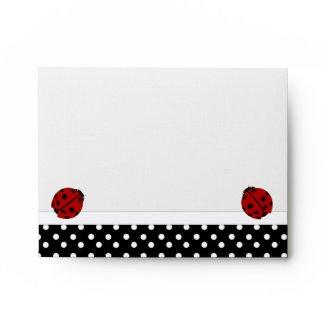 Ladybugs & Polka Dot Envelope envelope