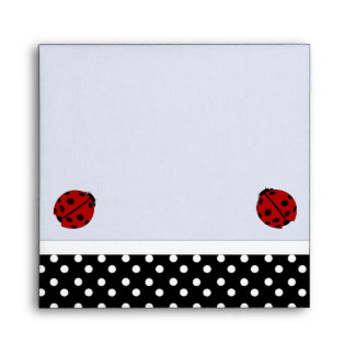 Ladybugs & Polka Dot Envelope