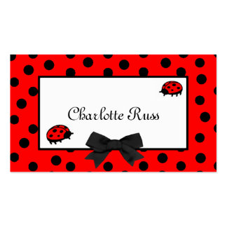 Ladybugs & Polka Dots Mommy Card Business Card Template