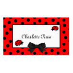 Ladybugs & Polka Dots Mommy Card Double-Sided Standard Business Cards (Pack Of 100)