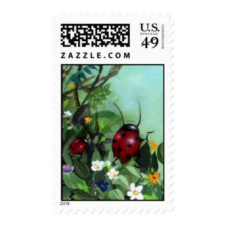 Ladybugs Postage Stamp