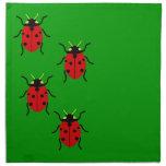 Ladybugs Printed Napkin