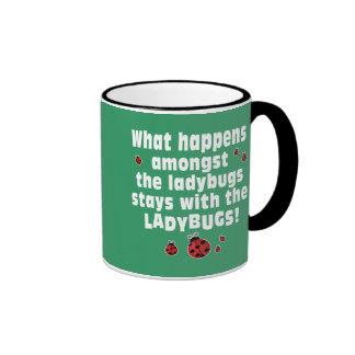 Ladybugs Ringer Coffee Mug