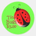 Ladybugs Round Sticker