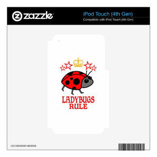 Ladybugs Rule iPod Touch 4G Skins