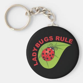 Ladybugs Rule Key Chain