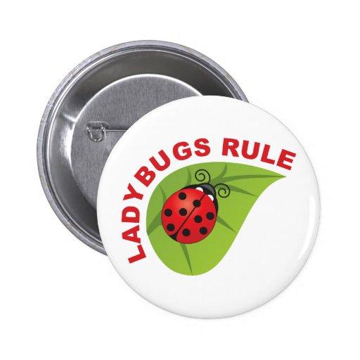 Ladybugs Rule Pin