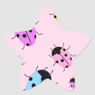 LADYBUGS STAR STICKER