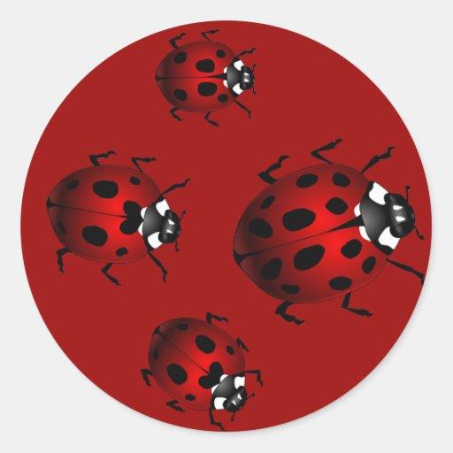Ladybugs Stickers Red Ladybugs Stickers