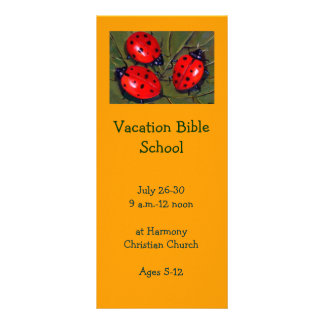LADYBUGS: VACATION BIBLE SCHOOL INVITATION CARDS