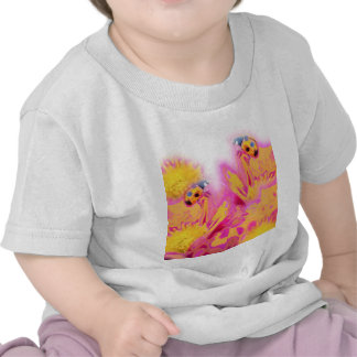 Ladybugs with Bright Flowers T-shirt