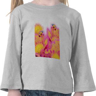Ladybugs with Bright Flowers Tshirt