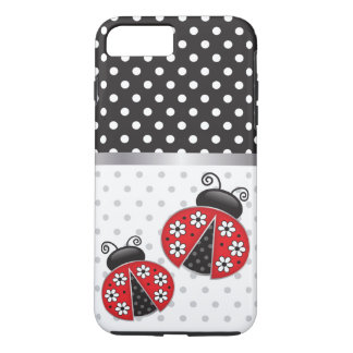 Ladybugs with polka dots iPhone 8 plus/7 plus case