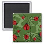 ladybugz. 2 inch square magnet