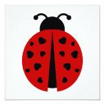 "ladybugz. 5.25"" square invitation card"