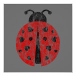 ladybugz. 5.25x5.25 square paper invitation card