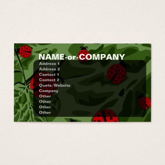 ladybugz. business card