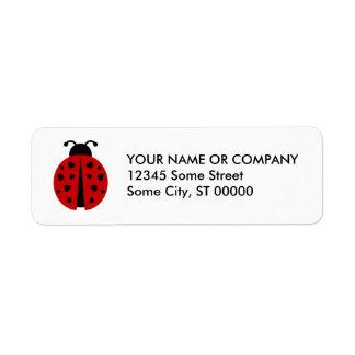ladybugz. etiqueta de remite