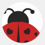 ladybugz. etiqueta redonda