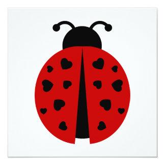"""ladybugz. invitación 5.25"""" x 5.25"""""""