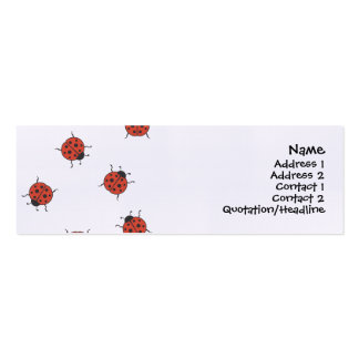 Ladybugz Pattern Double-Sided Mini Business Cards (Pack Of 20)