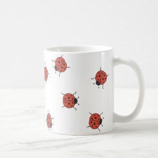 Ladybugz Pattern Classic White Coffee Mug