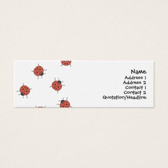 Ladybugz Pattern Mini Business Card