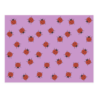 Ladybugz Pattern Postcard
