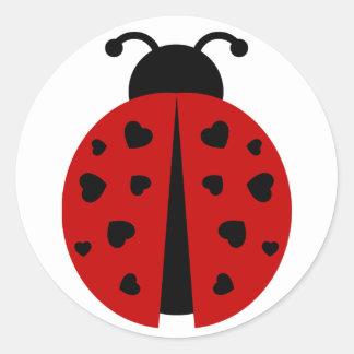 ladybugz. pegatina redonda