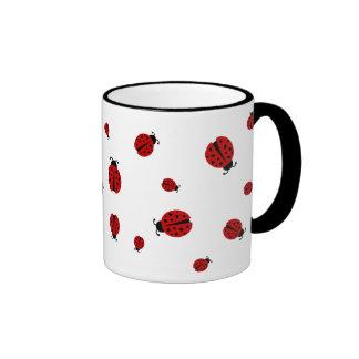 ladybugz. ringer coffee mug