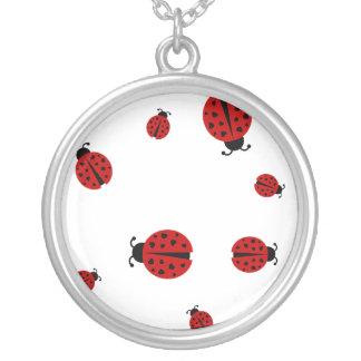 ladybugz. silver plated necklace