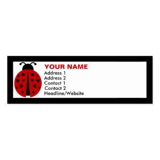 ladybugz. tarjetas de visita mini