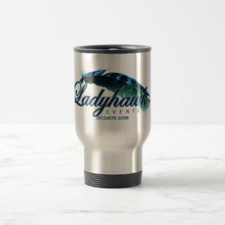 Ladyhawk Events logo 15oz travel Mug